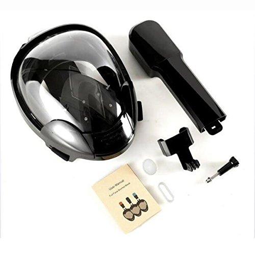 スノーケリングマスク180°パノラマビュースポーツカメラ対応アンチフレーズ2018ニューダイビングマスク B07G32F6R4 Single Large Large|Single