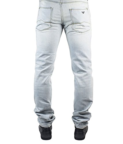 Armani Jeans Bleached Wash Denim–a6j457A