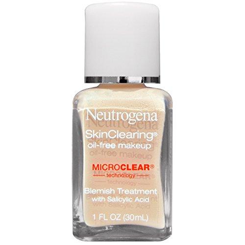 Neutrogena, Skin Clearing Oil-Free Makeup, Classic Ivory 10, 1 fl oz (30 ml) - 2pc