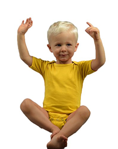 Monag Short Sleeve Bodysuit 3-6M Yellow