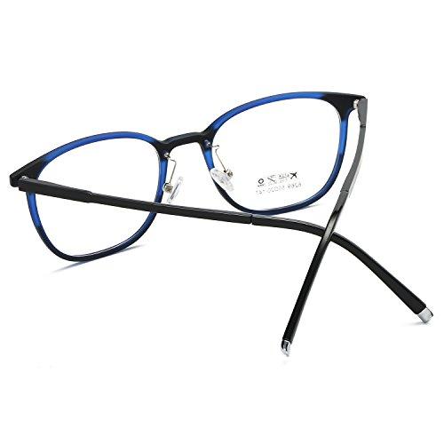 Lectura gafas Negra Lentes SOJOS Delgado Marco Lentes SJ6003 monturas de Mezcla C5 de de Reemplazo Fácil Azul aYwEwXx