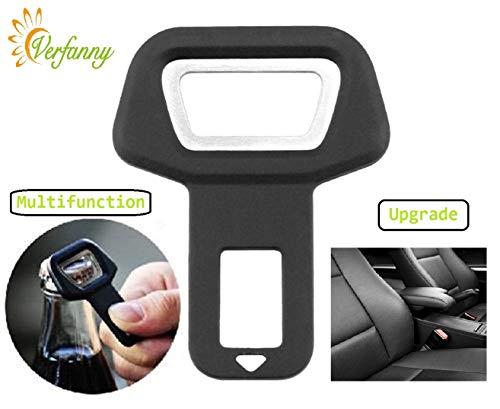 1 Pack Seat Belt Buckle Clip Clamp Spun Car Seat Belt Buckle Clip Suitable for Most ()