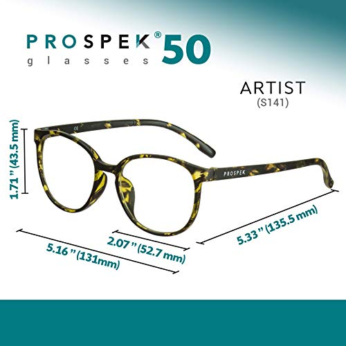 3ae8508c6395 Amazon.com  Computer Glasses - PROSPEK  Blue Light Blocking Glasses -  Artist - Relieve Eyestrain and Protect Your Eyes (No Magnification)  Health    Personal ...