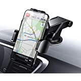 Car Phone Mount, Cell Phone Holder for Car Dashboard Windshield One Hand Operation Extremely Stable Car Cradle Mount with Washable Strong Sticky Compatible iPhone Xs MAX/X/8/7 Plus, Note 9/8(Black)