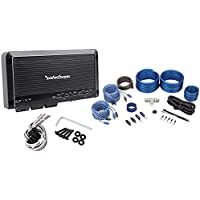 Package: Rockford Fosgate Prime R300X4 300 Watt 4-Channel Class AB Car Audio Amplifier + Rockville RWK42 Complete 4 Gauge 4 Channel Wire Kit With (2) Sets Rca Cables
