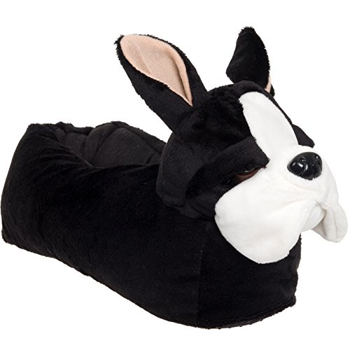 Plush French Bulldog Dog Slippers