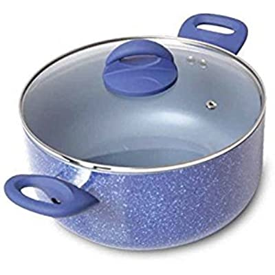 Click for Gibson Home 104437.02 Summerhaven Aluminum Whitford Non Stick Dutch Oven with Lid, 5 quart, Blue