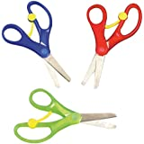 Spring-Loaded' Scissors for Children to Cut (Pack of 3)