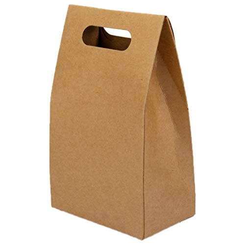 Birthday Cake Box - 5pcs Kraft Paper Brown Lucky Party Gift Regal Goody Bags Cupcake Muffins Cake Boxes - Spring Game Glossy Brown Boxers Original Storage Clear Shoe File Cabinet Glassy Jump ()