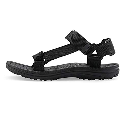 Summer Men's Sandals Camouflage Gladiator Beach Shoes Fashion Slippers(W2018 Black,7)