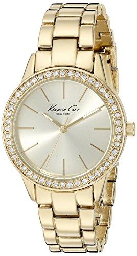 Kenneth Cole New York Women's 10014615 Classic Analog Display Japanese Quartz Gold Watch