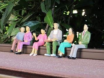 everest 6 sentados Figuras Juego 2, Escala 1:24, para Escala G Jardín tren: Amazon.es: Juguetes y juegos