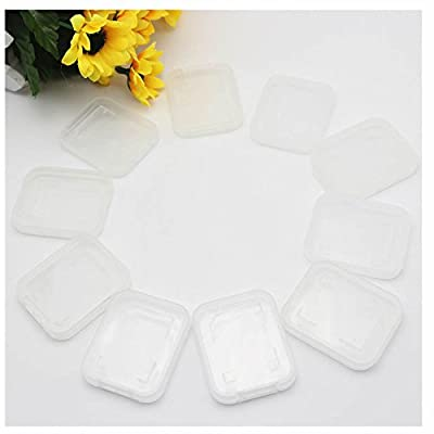 GOOTRADES Transparent Standard SD SDHC Memory Card Case Holder Box Storage Boxes (pack of 10) from GOOTRADES
