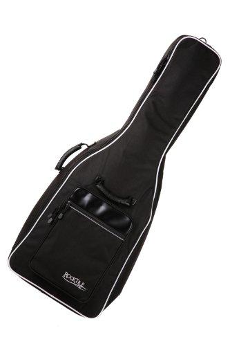 Rocktile Westerngitarrentasche 4/4 - gepolstert mit Rucksackgarnitur Gigbag für Westerngitarre schwarz