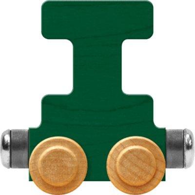 Maple Landmark NameTrain Bright Letter Car I - Made in USA (Green): Toys & Games
