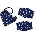 儿童口罩 星星 子供用 藏青色