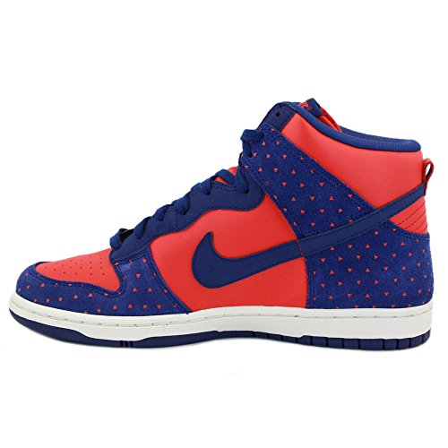 (Nike Dunk Hi Women's Skinny Print Sneakers Shoes Red Size 8.5)