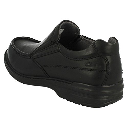 Clarks Keeler Step Black Leather 13 UK H / 48 EU