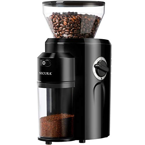 Secura Burr Coffee Grinder, Conical Burr Grinder with 18 Grind Settings