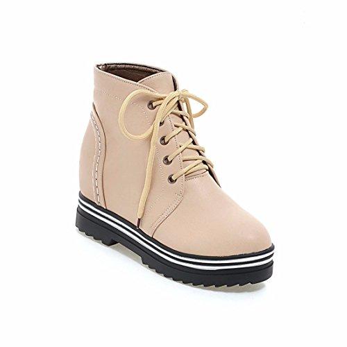 de delantera dama La tamaño botas mayor botas otoño botas apricot Martin el sujeción primavera estudiante y de ocio qqwZB