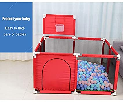 Large Baby Big Playpen Colors Baby Playpen Toddler Fence Safety Guard Bar Crawling Mat Foldable Portable Room Divider Child Barrier Expandable