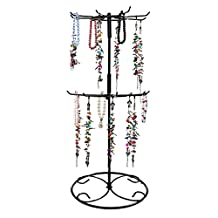 Jewelry Stand, Botitu® 16.2 inch Tall Revolving Necklace Holder with 3 Tier and 12 Large Hooks Jewelry Organizer for Girls and Women, Suitable for Hanging Bracelets, Hair Accessories and Earring Tree Stand