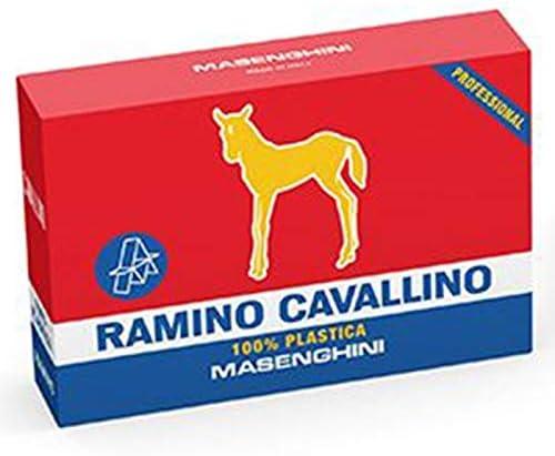 Mazzo di Carte da Gioco Cavallino Oro in Pvc Masenghini Ramino Professionali