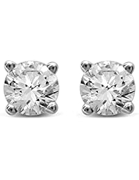14K Gold Round Diamond Stud Earrings (1)