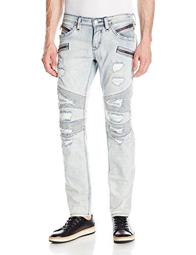 Rock Revival Men's Skinny Fit Jeans, Light Blue, 29