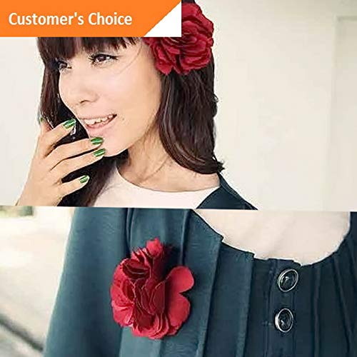 Werrox Hot Fashion Lady Peony Flower Hair Clip Hairpin Brooch for Beauty Decoration | Model HRPN - 1264 |