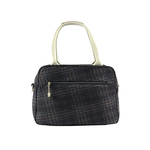 Dark Check Bag Grey Tote Day Tweed waqPtt