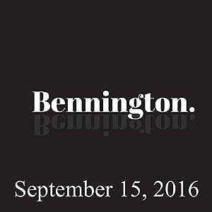 Bennington, September 15, 2016 Radio/TV Program