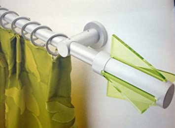 Bastone Tenda con Curve A Corda in Alluminio Bianco da Metri