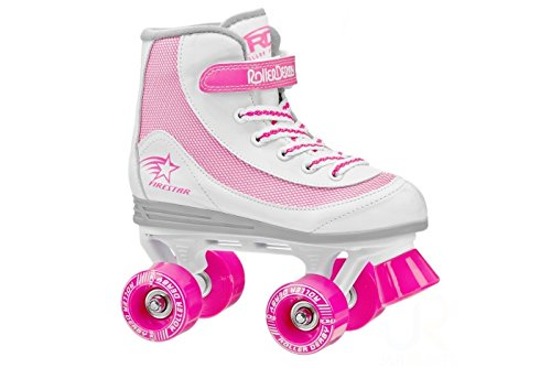 Roller Derby Patines quad FireStar V color blanco y rosa
