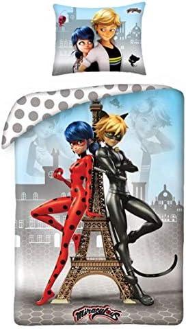 Halantex Miraculous beddengoed Ladybug Cat Noir MIR4343 kinderbeddengoed 140 x 200 cm
