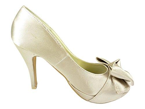 beige Mujer Chaussmaro de Zapatos Vestir Beige txrrwP8X