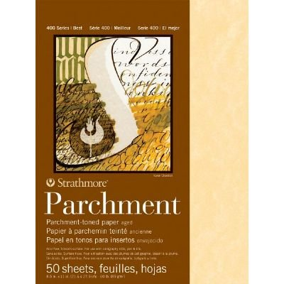Strathmore Parchment Paper Sheet 400 Series Aged Parchment Paper Sheet 8-1/2 x 11 (50 Shts./Pkg) STRATHMORE PAPER 6270035