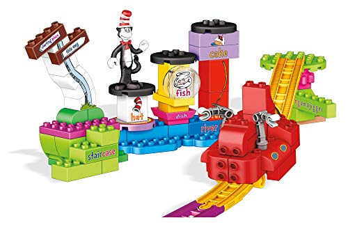 Mega Bloks Dr. Seuss Over The River Thingamajigger Building Set, 76 Pieces