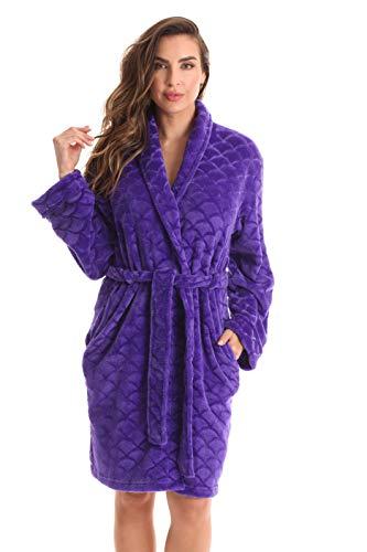 (Just Love Kimono Robe Bath Robes for Women 6311-Purple-XL)