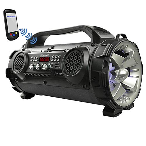 Boytone BT-50GR Portable Bluetooth Boombox, Indoor/Outdoor 2.1 Hi-Fi Cylinder Loud sound Built-In 2 x 5