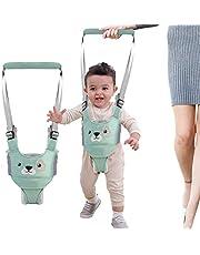 Handheld Baby Walker, Baby Walking Harness Safe Stand Hand Held Baby Walking Assistant Walking Helper, Breathable Safety Walking Harness Walking Belt for Toddler Infant, Adjustable (Blue)