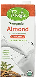 Pacific Foods Organic Original Almond Milk, Unsweetened, 32 Ounce