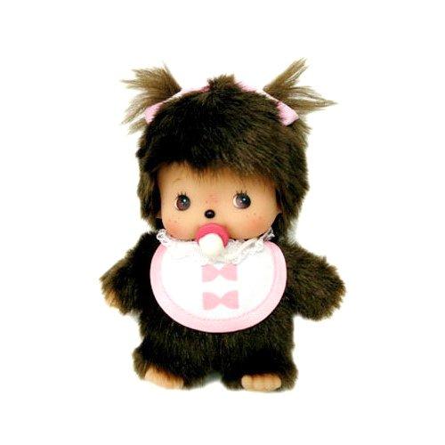 Sekiguchi Monchhichi 10th Anniversary Bebichhichi Baby Girl Bib Standing Plush