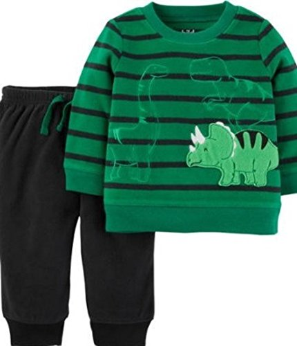 Child of Mine by Carter's 0-3M Baby Boy Long Sleeve Shirt and Pant Set ()