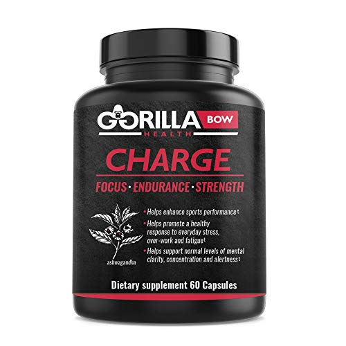 Gorilla Charge Natural Pre Workout Supplement Capsule for Men & Women, Pre-Workout Fitness Supplements for Energy and Endurance, Contains Adaptogens, Ashwagandha and Green Coffee Caffeine