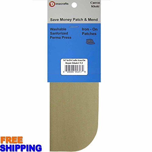 Canvas Khakis - 2 pcs pkg Bondex Iron-On 5