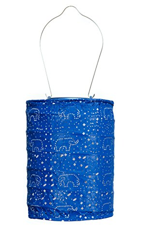 Allsop Home and Garden Soji Stella Dream LED Outdoor Solar Lantern, Handmade with Weather-Resistant UV Rated Tyvek Fabric, Stainless Steel Hardware, Auto sensor on/off,  for Patio, Deck, Garden, Color (Midnight Blue) by Allsop Home and Garden
