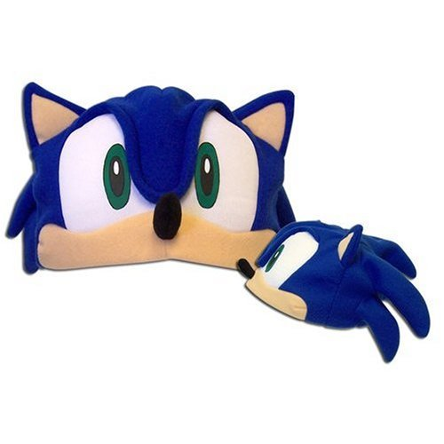 Sonic Adult Costumes (Sonic X: Cosplay Sonic Fleece Cap (Cosplay Hat))
