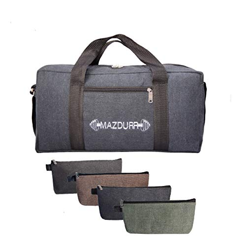 (Canvas Tool Bag Heavy-Duty | Free Bonus: 4 Large Tool Zippered pouches | Jumbo Mechanic Tool Bag | Tactical Tool Bag 18 inches)