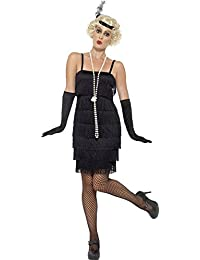 Smiffy Short Flapper Dress Adult Costume (Black) Large